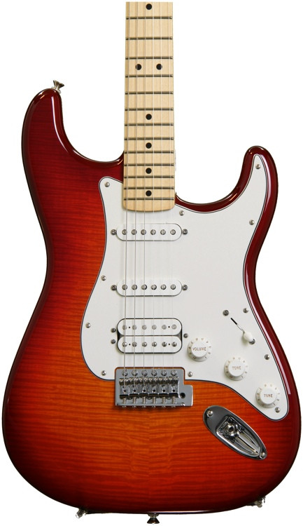 Fender Standard Stratocaster HSS Plus Top - Aged Cherry Burst with Maple Fingerboard image 1