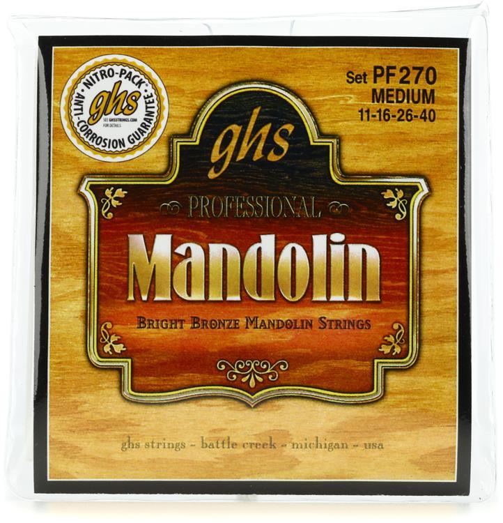 GHS PF270 Bright Bronze Mandolin Strings - .011-.040 Medium image 1
