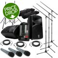 Sweetwater StagePas 400i Portable PA System with Stands and 3 Microphones