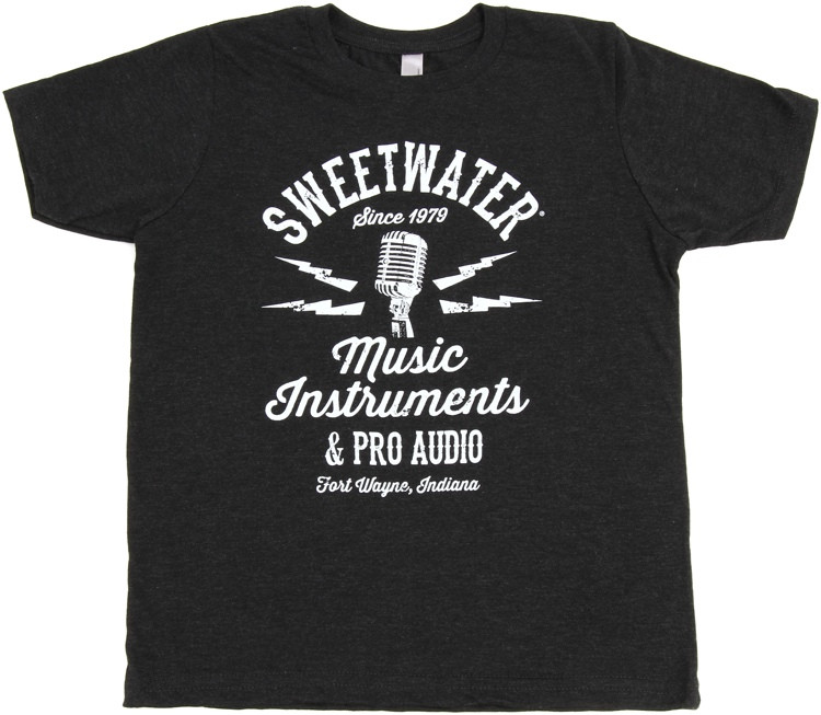 Sweetwater Vintage Black Mic T-shirt - Youth Medium image 1