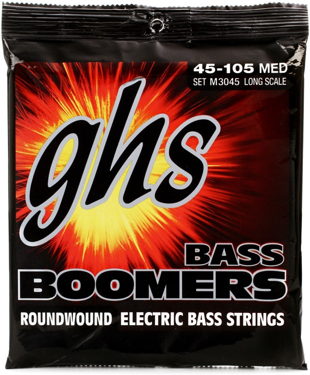 GHS M3045 Bass Boomers Roundwound Long Scale Medium Electric Bass Strings image 1