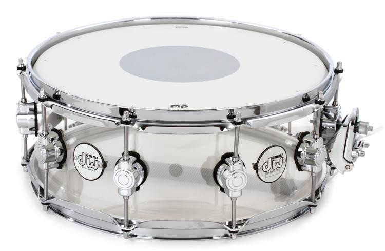 DW Design Series Clear Acrylic Snare - 5.5
