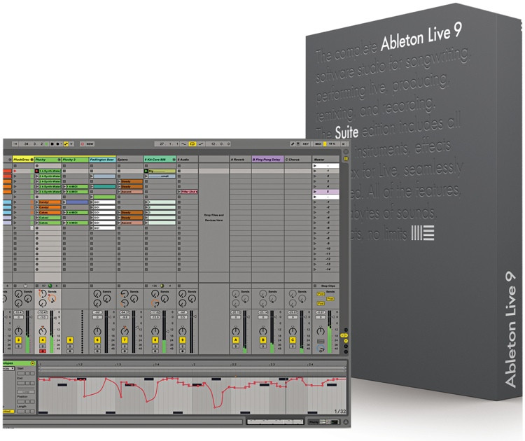 ableton live 9 suite upgrade from live lite boxed sweetwater. Black Bedroom Furniture Sets. Home Design Ideas