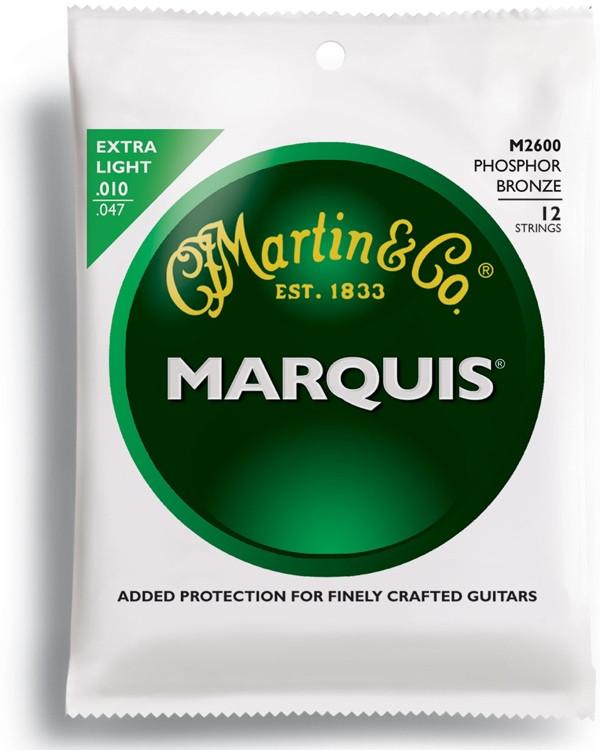 Martin M-2600 Marquis 92/08 Phosphor Bronze 12-String Extra Light image 1