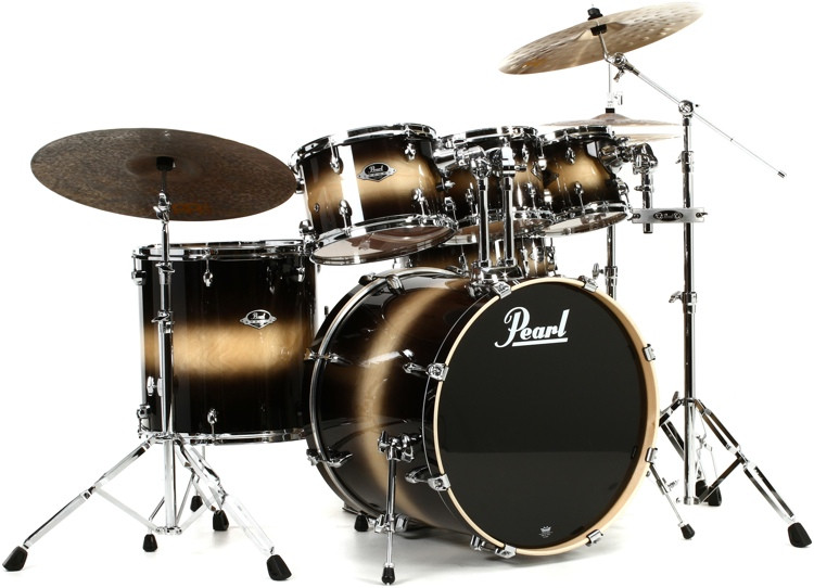 pearl export exl 6 piece drum set with hardware nightshade sweetwater. Black Bedroom Furniture Sets. Home Design Ideas