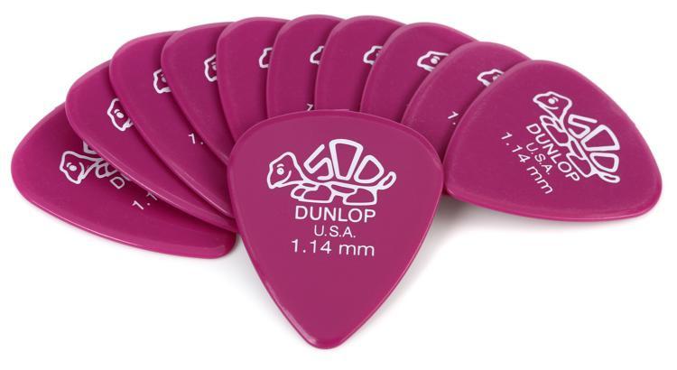 Dunlop 41P1.14 Delrin 500 1.14mm Magenta Guitar Picks 12-Pack image 1
