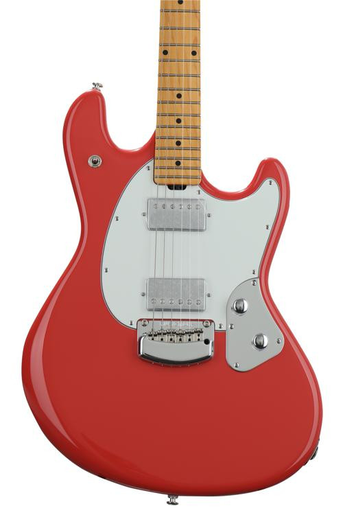 ernie ball music man stingray guitar coral red sweetwater. Black Bedroom Furniture Sets. Home Design Ideas