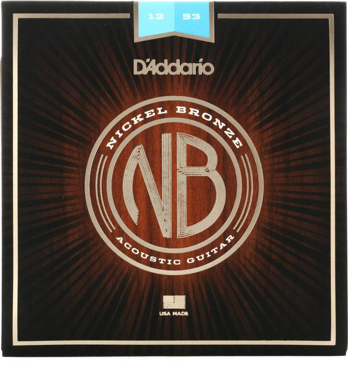 D\'Addario NB1253 Nickel Bronze Acoustic Strings .012-.053 Light image 1