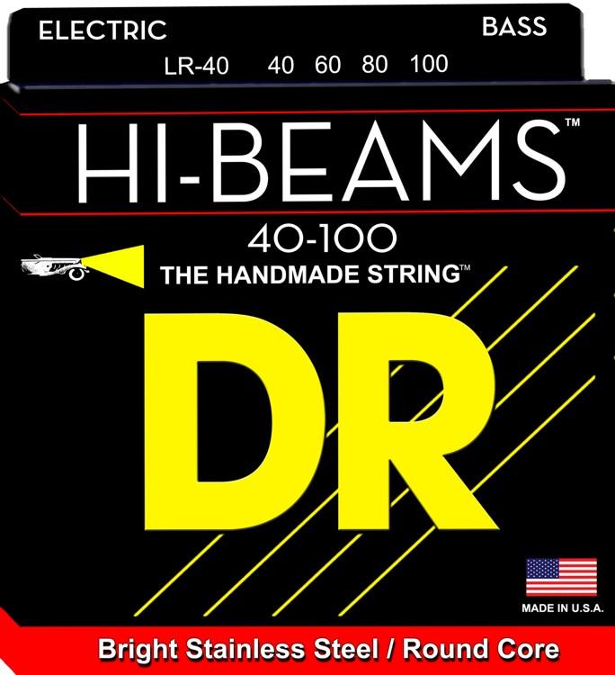 DR Strings LR-40 Hi-Beam Stainless Steel Light Bass Strings image 1