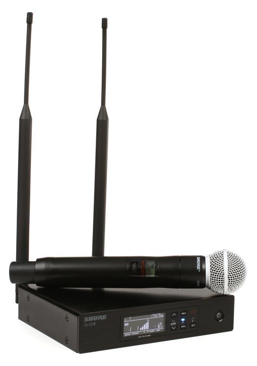 Shure QLXD24/SM58 Handheld Wireless System - V50 Band, 174-216 MHz image 1