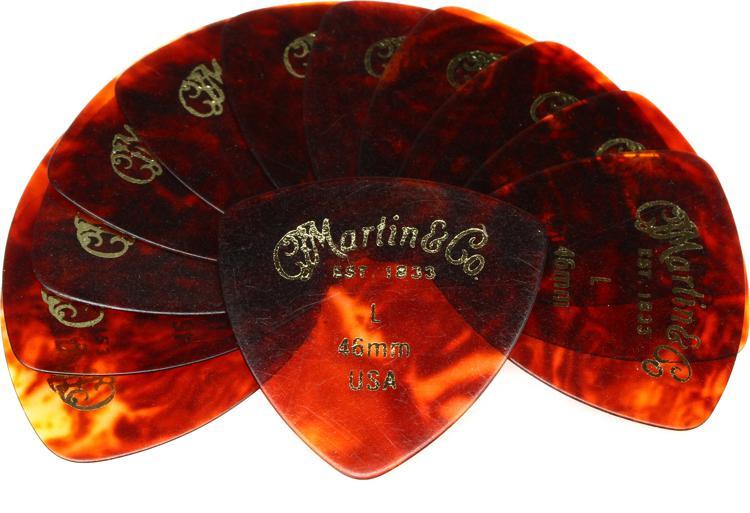Martin Faux-tortoise 346 #2 Guitar Picks 12 Pack - 0.46mm Light image 1