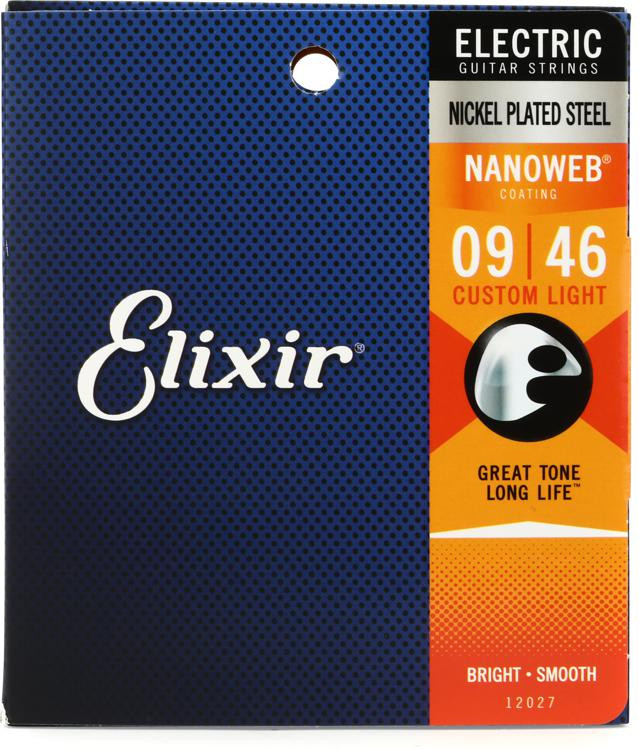 Elixir Strings 12027 Nanoweb Custom Light Electric Guitar Strings image 1