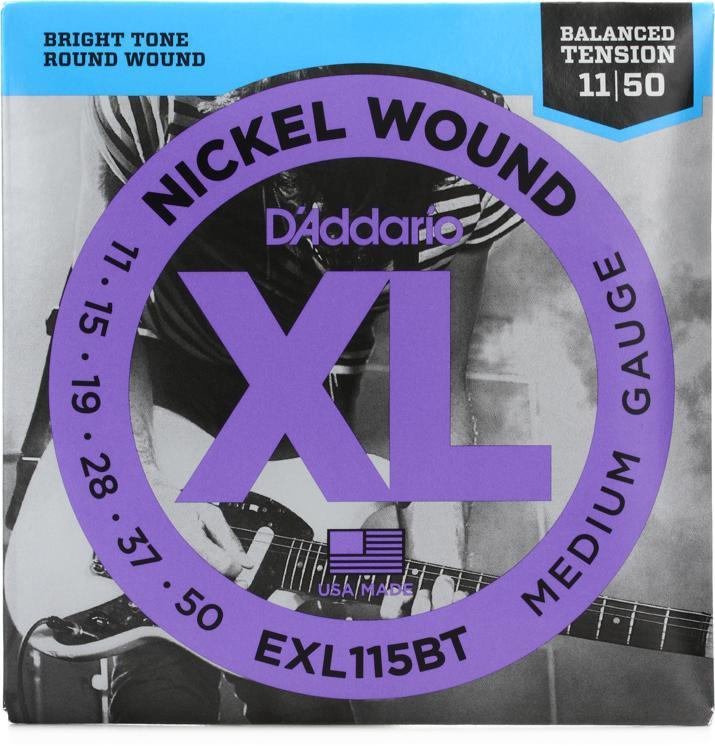 D\'Addario EXL115BT Balanced Tension Nickel Wound Medium Electric Strings image 1
