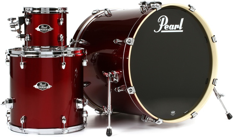 Pearl Export EXX 3-piece Add-on Kit with Hardware - Wine Red image 1