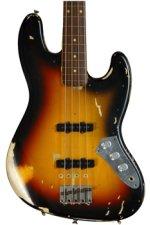 Fender Custom Shop Jaco Pastorius Fretless Jazz Bass Relic - 3-Color Sunburst