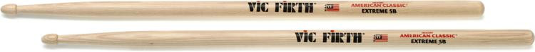 Vic Firth American Classic Extreme Drum Sticks - Extreme 5B - Wood Tip image 1
