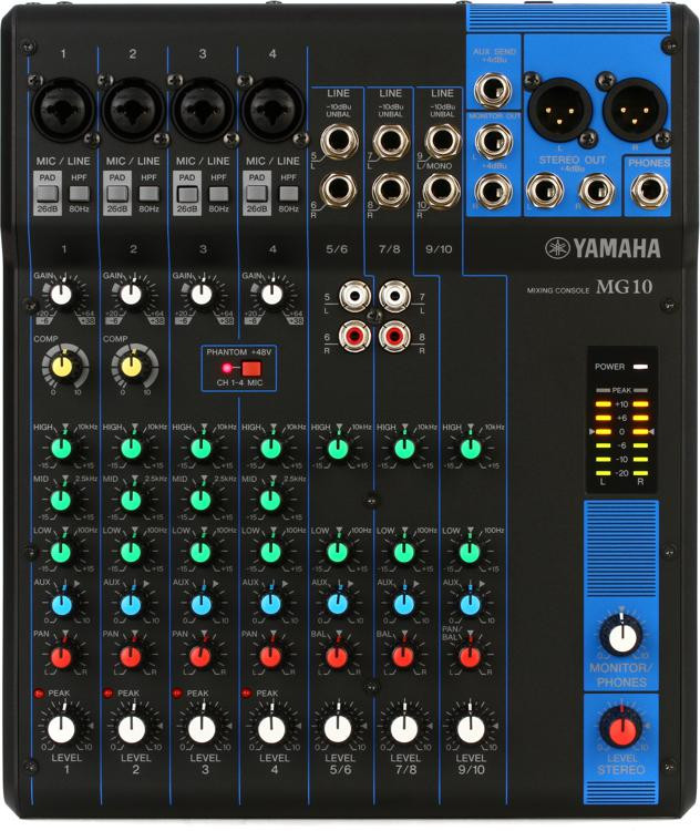 MG10 10-channel Mixer
