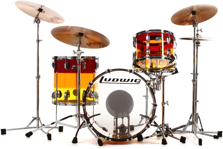 Ludwig Vistalite 3 Piece Shell Pack - Tequila Sunrise image 1