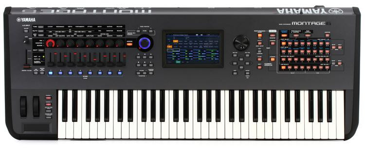 yamaha montage 6 61 key synthesizer sweetwater. Black Bedroom Furniture Sets. Home Design Ideas