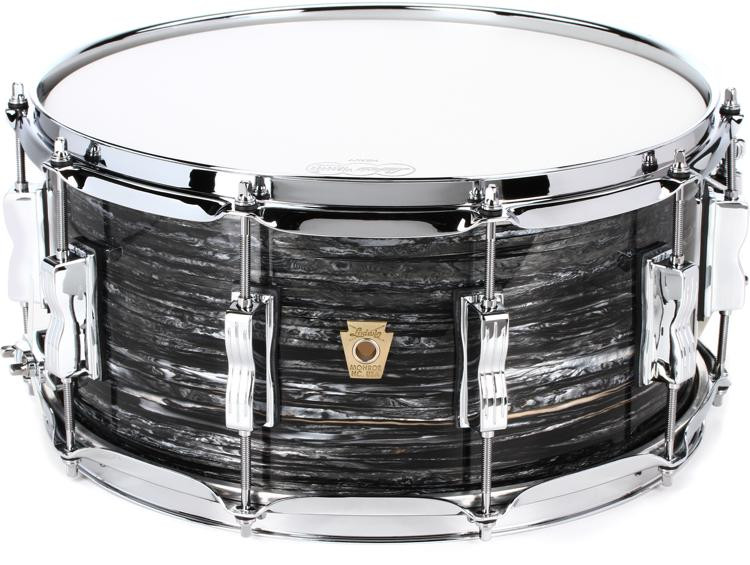 ludwig classic maple snare drum 6 5 x 14 vintage black oyster sweetwater. Black Bedroom Furniture Sets. Home Design Ideas