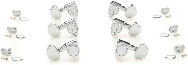 Grover Tip Lock Machine Head Tuners - Chrome, 3+3 image 1