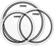 "Evans EC2 Clear Tom Pack - 12"", 13"", and 16"" Heads"