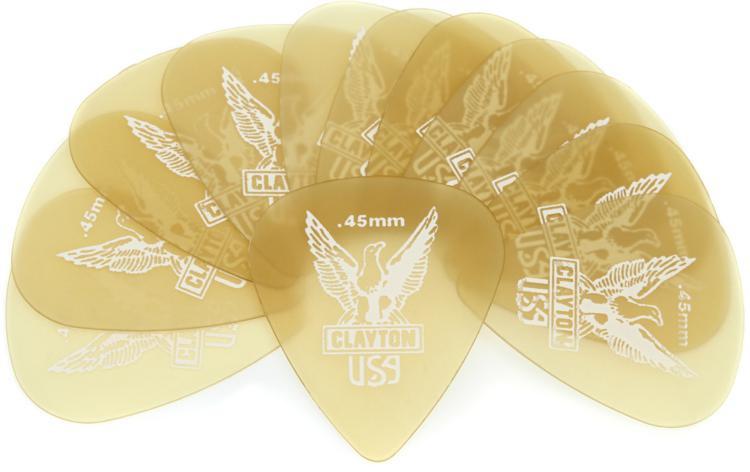 Clayton Ultem Standard Picks 12-pack .45mm image 1