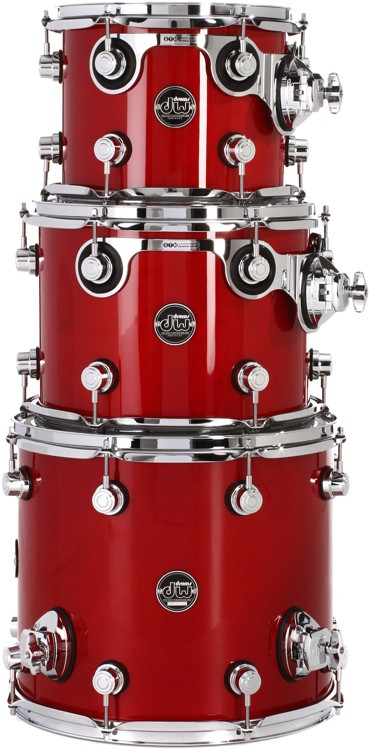DW Performance Series 3-pc Tom Pack - Candy Apple Red Lacquer image 1