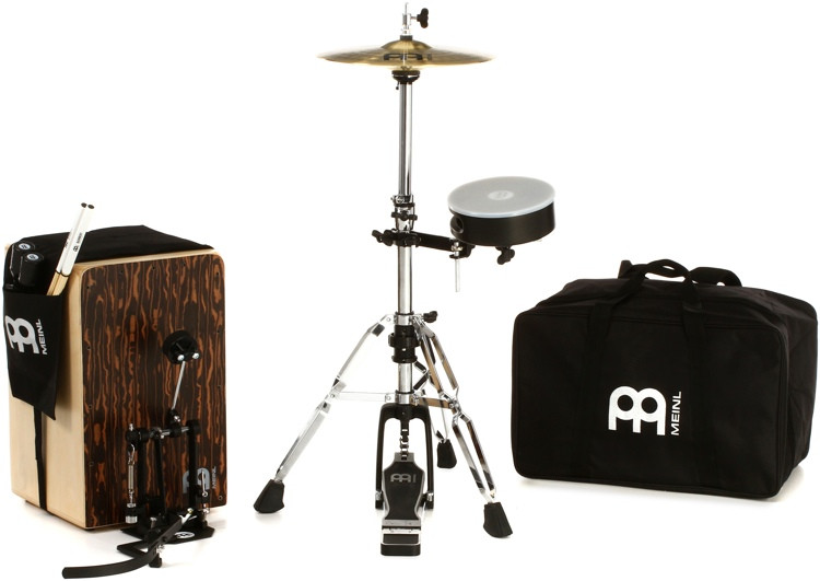 Meinl Percussion Cajon Drum Set with Cymbals and Hardware image 1