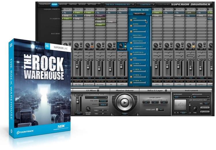 Toontrack The Rock Warehouse SDX (boxed) image 1