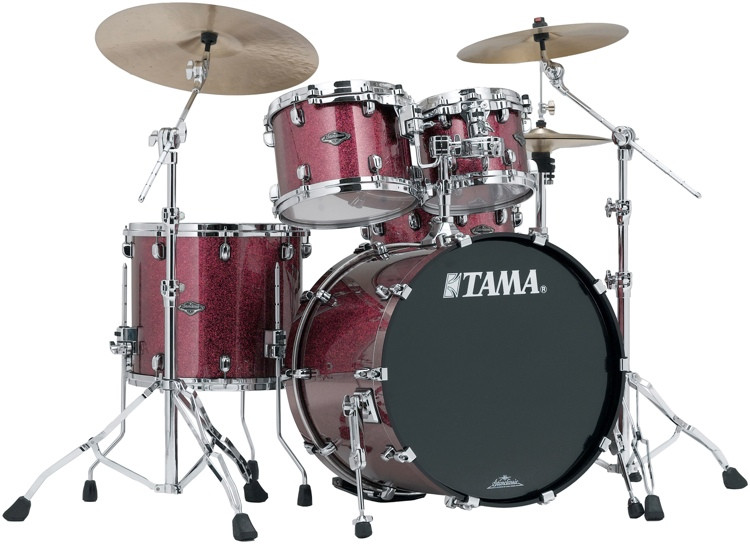 Tama Starclassic Performer B/B Shell Pack - 4-pc - Coral Red Sparkle Lacquer image 1