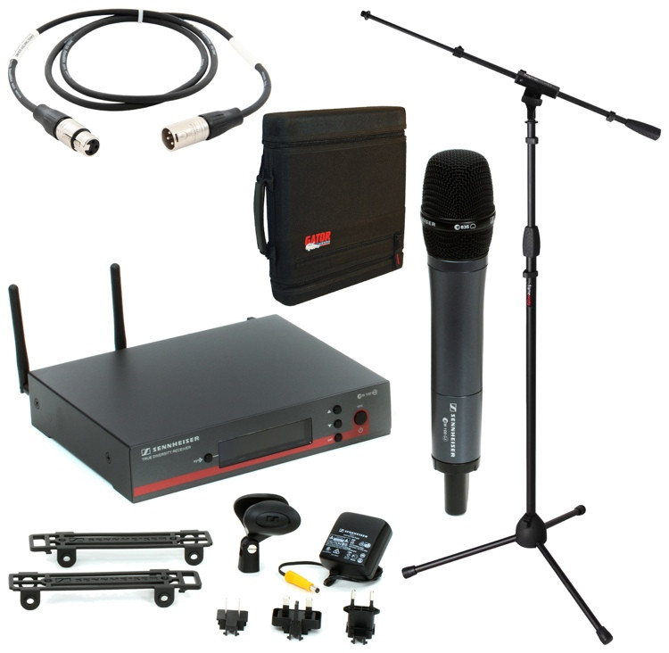 Sennheiser EW 135 G3 Handheld Wireless Microphone System with Case, Stand, and Cable image 1