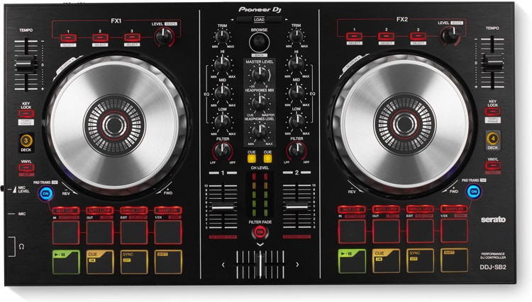 Pioneer DJ DDJ-SB2 2-deck Serato DJ Controller image 1