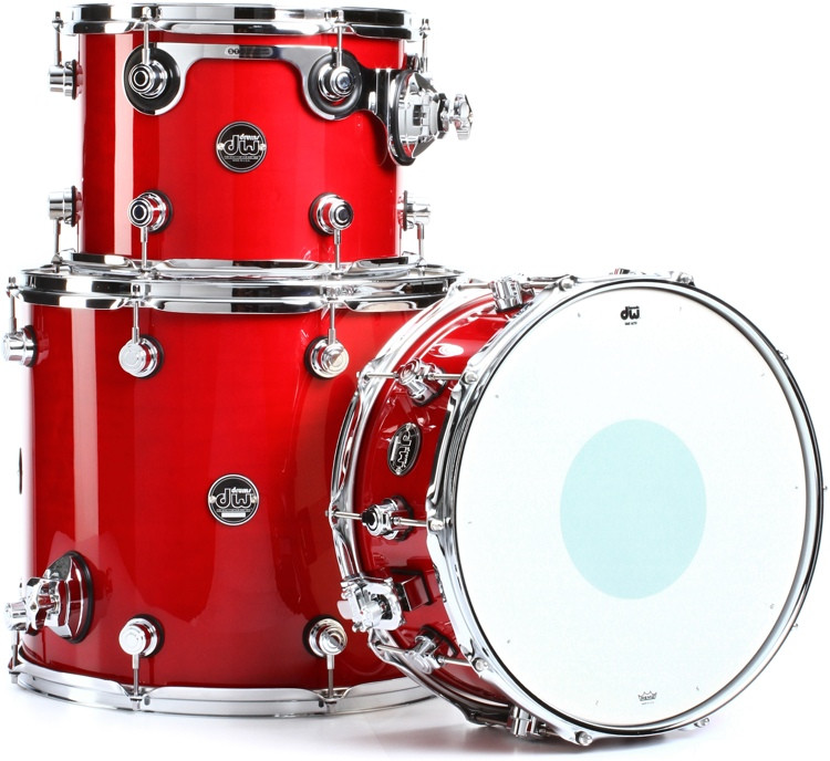 DW Performance Series 3-piece Tom/Snare Pack - Candy Apple Lacquer image 1