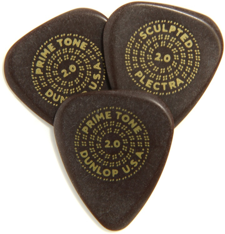 Dunlop Primetone Standard Smooth Pick 2.0mm 3-pack image 1