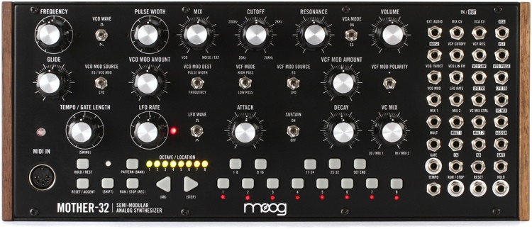 Moog Mother-32 Semi-Modular Eurorack Analog Synthesizer and Step Sequencer image 1