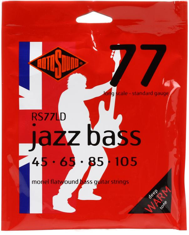 Rotosound RS77LD Jazz 77 Monel Flatwound Long Scale Bass Strings image 1