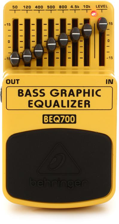 behringer beq700 bass graphic equalizer pedal sweetwater. Black Bedroom Furniture Sets. Home Design Ideas