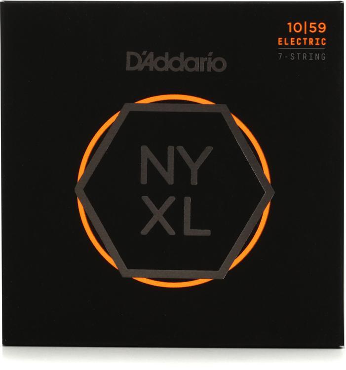 D\'Addario NYXL1059 Nickel Wound Electric Strings .010-.059 Regular Light 7-String image 1
