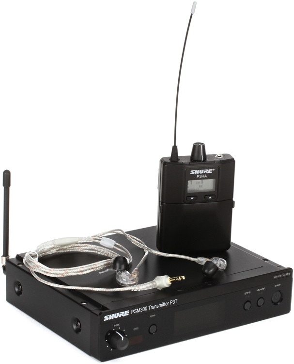 shure p3tra215cl wireless in ear monitor system h20 band sweetwater. Black Bedroom Furniture Sets. Home Design Ideas