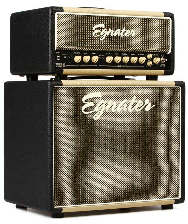 Egnater Rebel-30 MKII Stack 30-watt Tube Head with 1x12