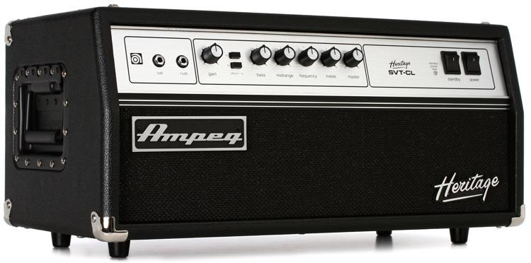Ampeg Heritage SVT-CL 300-Watt Tube Bass Head image 1