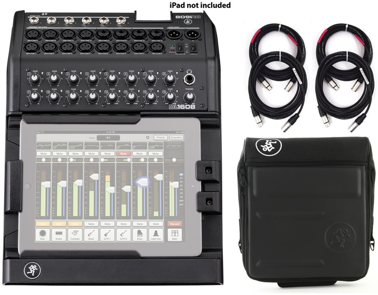Mackie DL1608 16-channel Digital Mixer with Case and Cables image 1