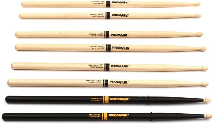Promark RBH565AW Stick Pack - Free Pair Active Grip Sticks! image 1