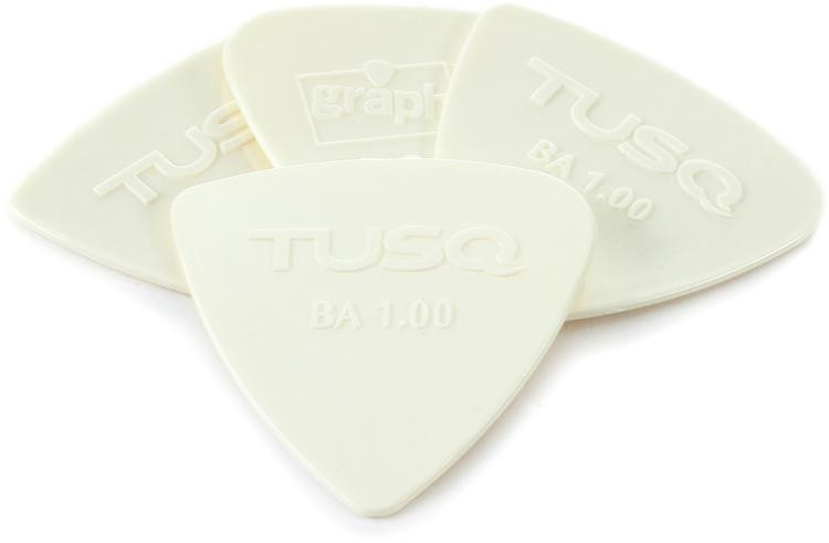 Graph Tech Tusq Bi-Angle 1.0mm Pick - Bright 4-Pack image 1