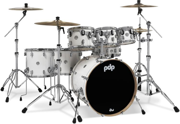 PDP Concept Maple Shell Pack - 7-Piece - Pearlescent White image 1