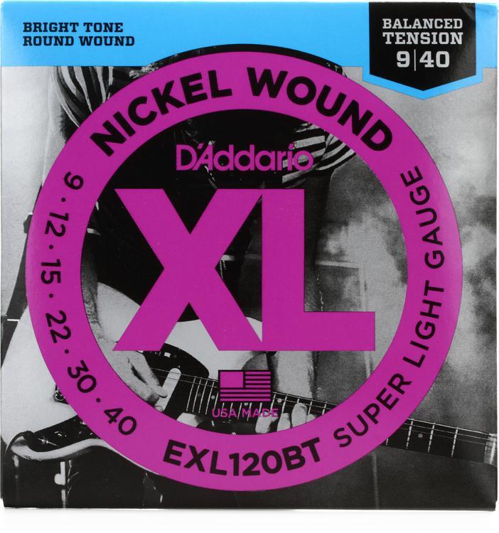 D\'Addario EXL120BT Balanced Tension Nickel Wound Super Light Electric Strings image 1