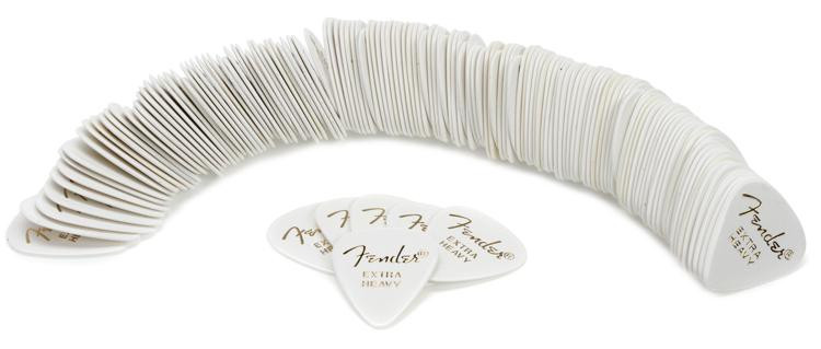 Fender 351 Shape Classic Celluloid Picks - Extra Heavy White - 144-Pack image 1