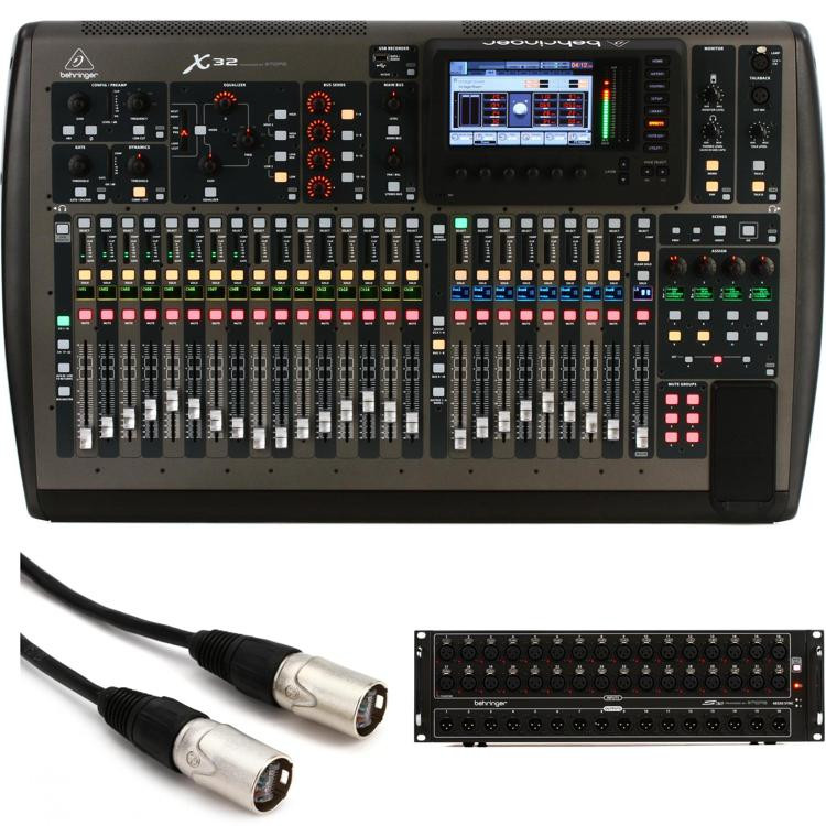 behringer x32 digital mixer with s32io stage box sweetwater. Black Bedroom Furniture Sets. Home Design Ideas