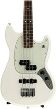 Fender Mustang PJ Bass - Olympic White with Rosewood Fingerboard